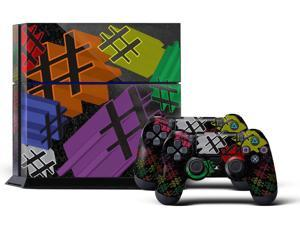 Sony PS4 PlayStation 4 Console Skin plus 2 Controller Skins - Hashtastic