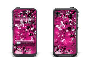 Skin for LifeProof Case for Apple iPhone 4/4s - Skulls and Butterflies