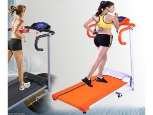1100W Folding Electric Treadmill Portable Motorized Running Machine Orange