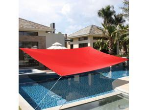 10' x15' Deluxe Rectangle Sun Shade Sail UV Top Outdoor Canopy Patio Lawn