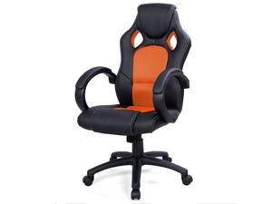 High Back Race Car Style Bucket Seat Office Desk Chair Gaming Chair Orange