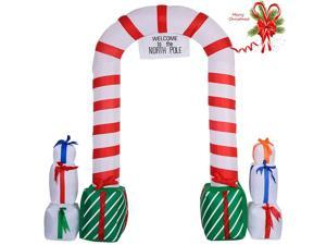 8 Ft Outdoor Waterproof Inflatable Santa Arch Christmas Decoration