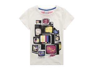 Richie House Little Boys White Countdown TV Printed Tee 5/6
