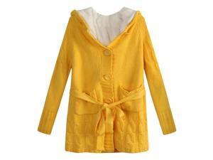 Richie House Big Girls Yellow Short Floss Lining Cardigan Sweater 8