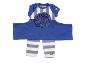 KidCuteTure Little Girls Violet Flower Elsa Tunic Leggings Outfit Set 2T