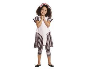 KidCuteTure Big Girls Pink Stripes Saige Designer Trendy Spring Dress 14