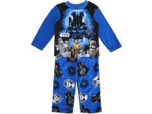 Star Wars Little Boys Blue Black Darth Vader Long Two Piece Pajama Set 6