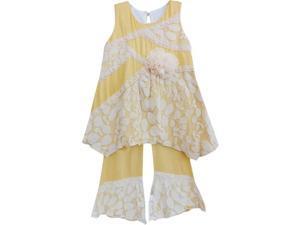 Isobella & Chloe Big Girls Marigold Arabella Two Piece Pant Outfit Set 7