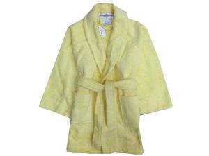 Kings n Queens Big Girls Yellow Pockets Shawl Collar Terry Loop Bathrobe 12