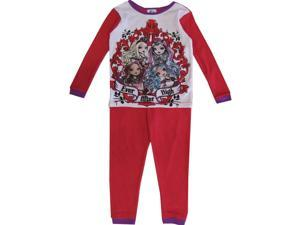 Monster High Big Girls White Red Long Sleeve Thermo 2 Piece Pajama Set 8