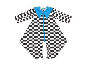 KidCuteTure Baby Girls White Black Squares Orchid Long Sleeve Fall Romper 6M
