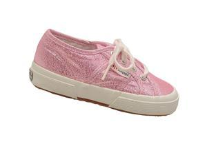 Superga Little Girls Pink Glitter Finish Lace Up Sneakers 10.5 Toddler