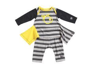 KidCuteTure Baby Girls Honey Yellow Stripe Lizzi Tunic Leggings Outfit Set 9M