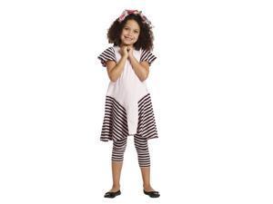 KidCuteTure Big Girls Pink Stripes Saige Designer Trendy Spring Dress 14