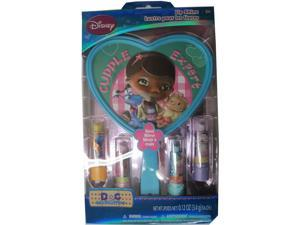 Disney Girls Doc McStuffins Lip Shine Hand Mirror Cosmetic Set