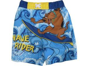 Cartoon Network Little Boys Sky Blue Scooby Doo Print Swim Shorts 2T