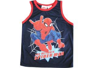 "Spiderman Little Boys Navy Blue ""The Ultimate Spider-man"" Sleeveless Shirt 5-6"