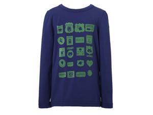 Richie House Little Boys Black White Striped French Style Print T-shirt 6/7