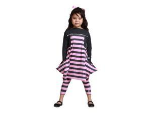 KidCuteTure Little Girls Rose Pink Striped Cynthia Tunic Fall Outit Set 5