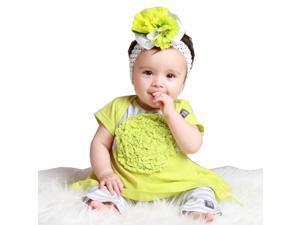 KidCuteTure Little Girls Sprite Flower Elsa Tunic Leggings Outfit Set 3T