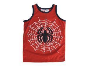 Marvels Little Boys Red Spiderman Logo Print Sleeveless Shirt 5