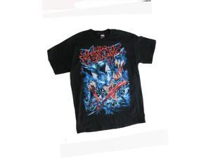 Marvels Big Boys Black Venom Graphic Print Casual Short Sleeve T-Shirt 10/12