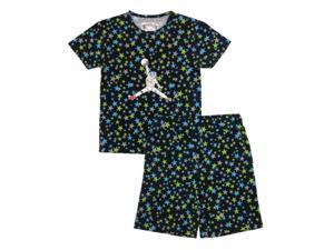 Kings n Queens Big Boys Black Multi Color Moon Man Print 2 Pc Pajama Set 14