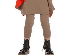 KidCuteTure Big Girls Choco Jersey Designer Leggings 14