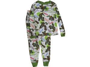 Nickelodeon Little Boys Green Teenage Mutant Ninja Turtles Sleepwear Set 6