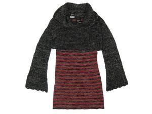 Disney Little Girls Red Black Stripe Knit Dress Long Sleeve Vest Outfit 6X