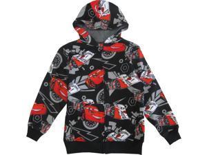 Disney Little Boys Black Red Lightning McQueen Print Hooded Sweater 5/6