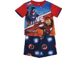 Marvel Big Boys Red Captain America Iron Man 2 Pc Sleepwear Set 8