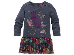 CakeWalk Baby Girls Black Tric Savana Long Sleeve Dress 12M