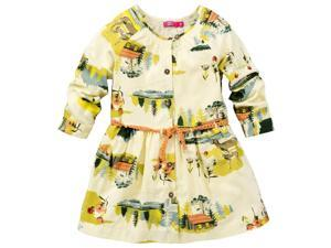 CakeWalk Baby Girls Ivory Suzuki Long Sleeve Dress 9M