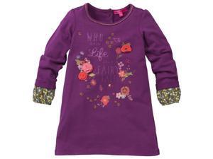 CakeWalk Baby Girls Purple Kiris Long Sleeve Dress 12M