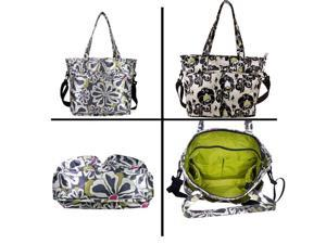 Amy Michelle Charcoal Floral New Orleans Go Work Stylish Tote Bag