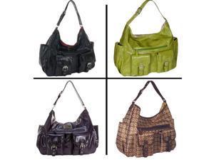 Amy Michelle Designer Sweet Pea Bebe Black Purse Diaper Bag
