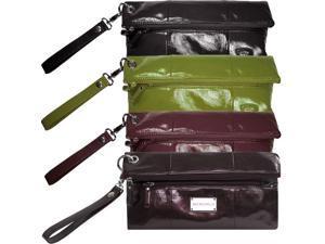 Amy Michelle Designer Diaper Bag Black Poppy Clutch w/ Changing Pad