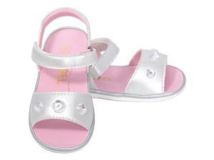 Angel Baby Girls 1 Silver Metallic Jeweled Strap Spring Summer Sandals