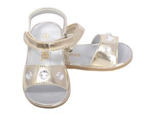 Angel Baby Girls 1 Gold Metallic Jeweled Strap Spring Summer Sandals