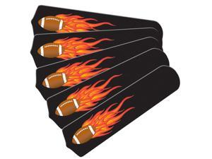 Flaming Football Graphics Custom Designer 52in Ceiling Fan Blades Se
