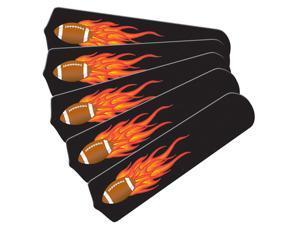 Flaming Football Graphics Custom Designer 52in Ceiling Fan Blades Se