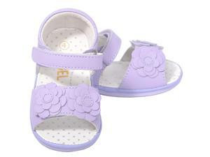 Baby Girls 1 Cute Lilac Flower Strap Velcro Spring Sandals