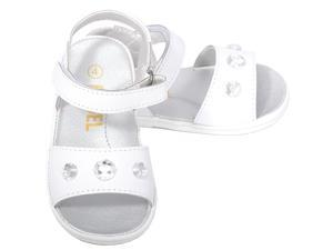 Angel Baby Girls 1 White Jeweled Strap Spring Summer Sandals