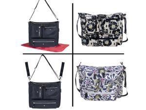 Amy Michelle Chic Black Iris Crossbody Organized Designer Diaper Bag