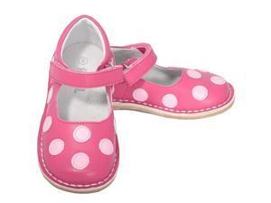L'Amour Fuchsia Pink Dot Mary Jane Dress Shoe Toddler Girl 10