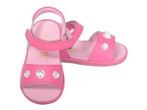 Angel Baby Girls 1 Fuchsia Jeweled Strap Spring Summer Sandals