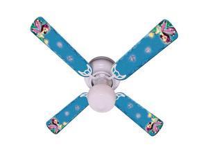 Purple Fairy Print Blades 42in Ceiling Fan Light Kit