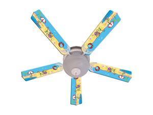 Fun at the Beach Print Blades 52in Ceiling Fan Light Kit