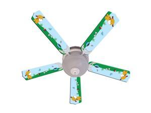 Puppy Dog Print Blades 52in Ceiling Fan Light Kit